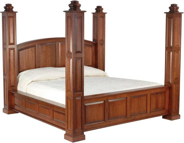 Amish Deluxe Viceroy Bed with 7' High Posts