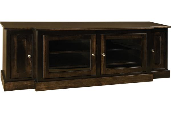 "Amish 74"" Mission TV Stand without Towers"