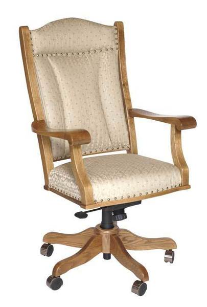 Amish Upholstered Traditional Executive Desk Chair