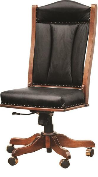 Amish Upholstered Armless American Office Chair