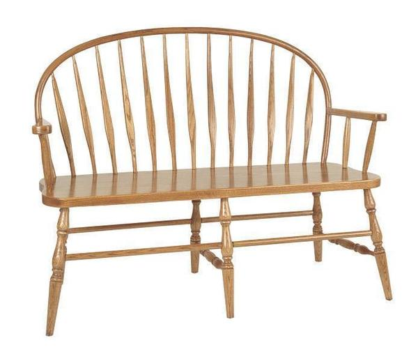 Amish Bent Low Windsor Bench
