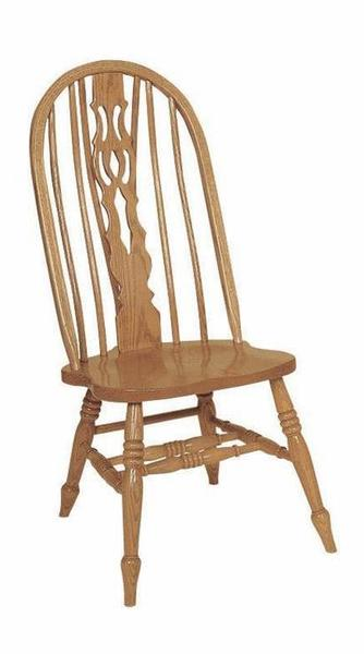 Amish Bow Back Bent Fiddle Slot Dining Chair