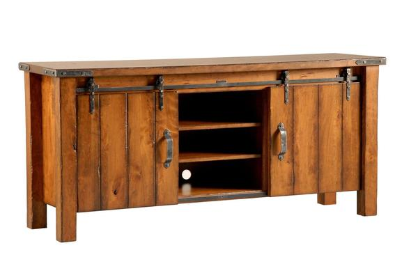 29ac759b38af Ask us a Question. Rustic Barn Door Entertainment Console