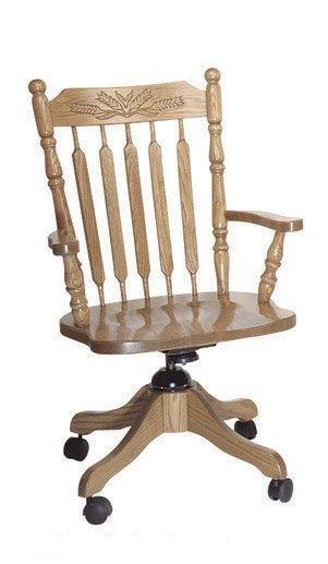 Amish Acorn Desk Chair