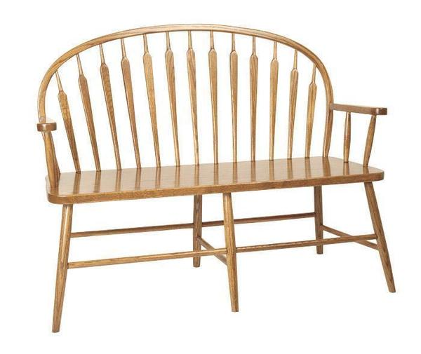 Amish Arrow Low Windsor Bench