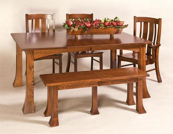 Amish Breckenridge Solid Wood Bench