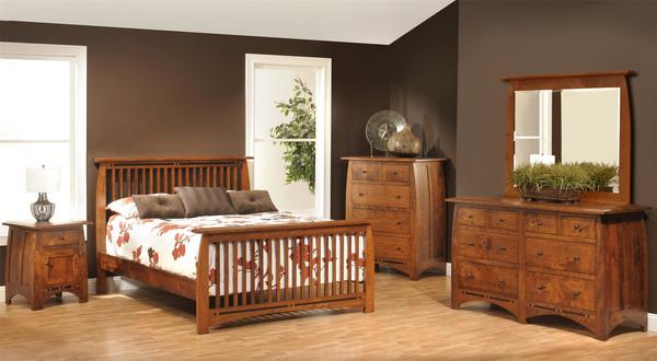 Amish Vineyard Mission Five Piece Bedroom Set