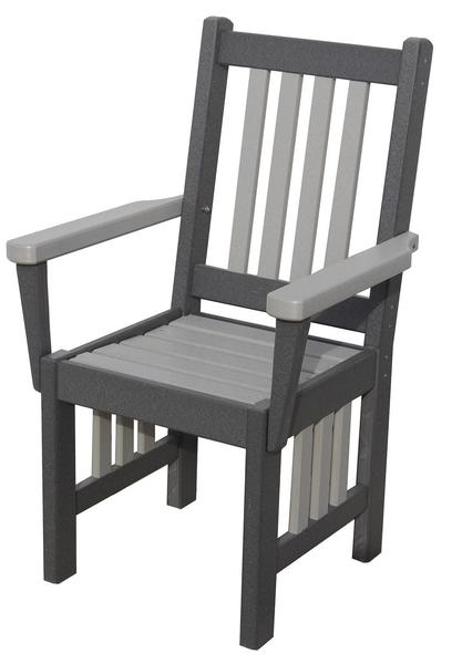 Amish Seaside 18 Inch Poly Composite Mission Dining Captain's Chair