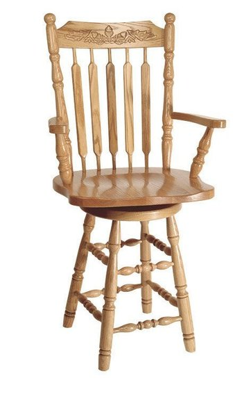 Amish Acorn Turned Leg Barstool