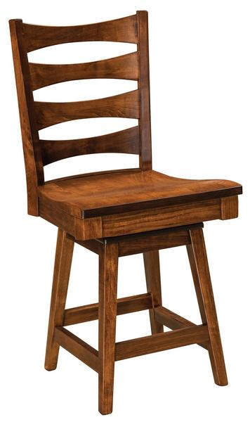 Amish Armanda Swivel Bar Stool