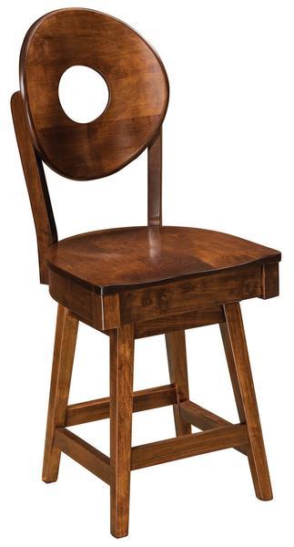 Amish Bridgeport Swivel Bar Stool