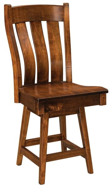 Amish Chesterton Mission Bar Stool with Swivel