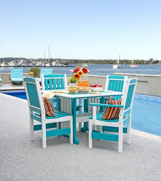 Amish Leisure Lawns Five Piece Garden Poly Dining Set
