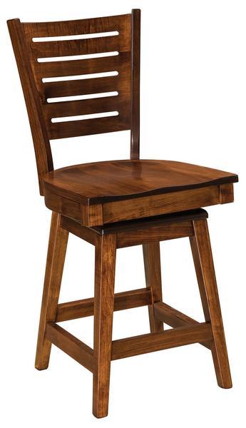 Amish Hallowell Swivel Bar Stool