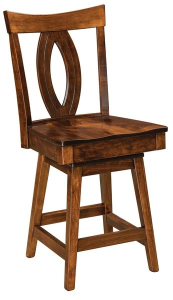 Amish Miami Stool with Swivel