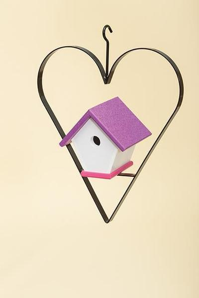 Recycled Plastic Wren Bird House with Heart