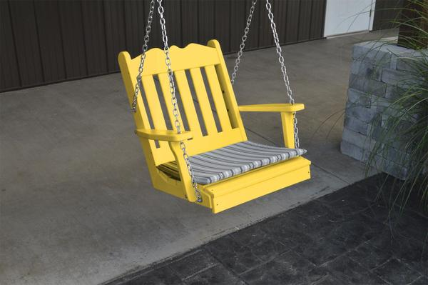 Amish Poly Royal English Chair Swing