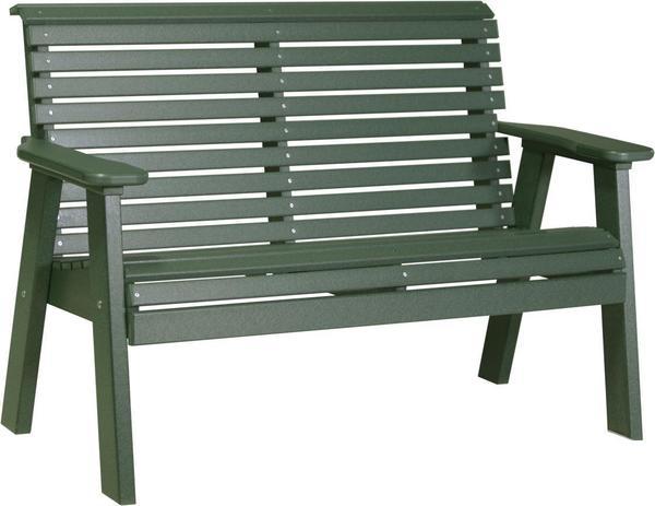 LuxCraft Poly 4'  Plain Garden Bench