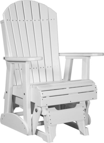 LuxCraft 2' Adirondack Poly Glider Chair