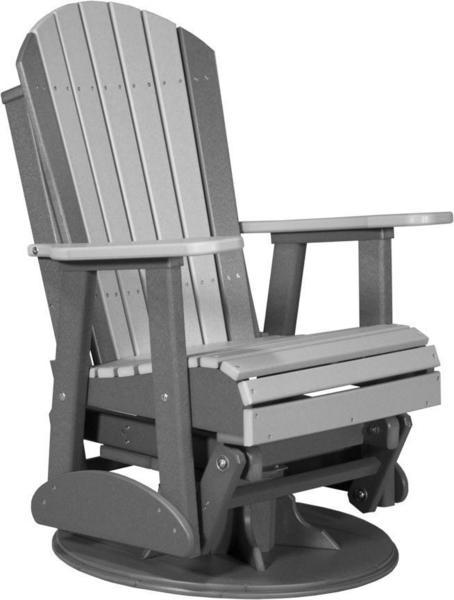LuxCraft 2' Swivel Adirondack Poly Glider Chair