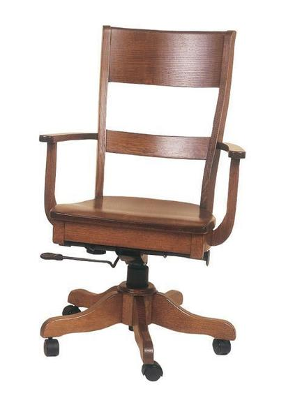 Amish Columbus Desk Chair With Gas Lift