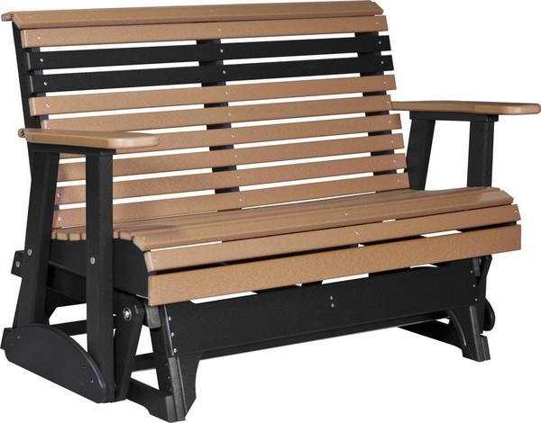Amish LuxCraft 4' Plain Poly Glider Bench