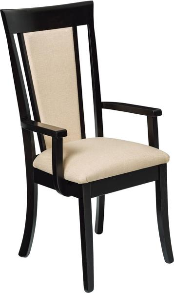 Amish Jamestown Upholstered Arm Chair with High Back