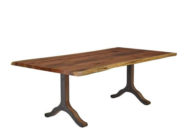 Live Edge Dining Table with Strada Base