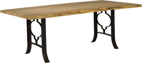 Live Edge Dining Table with Ogee Base
