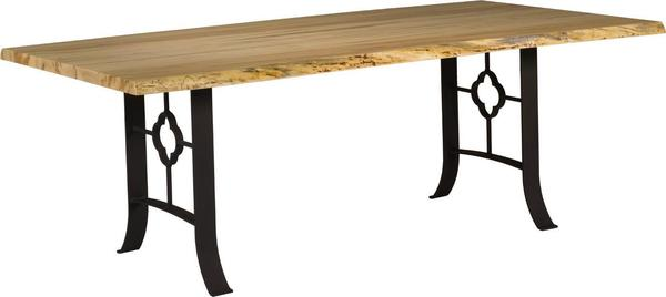 Live Edge Dining Table with Shamrock Base