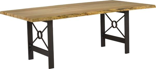 Live Edge Dining Table with Target Base