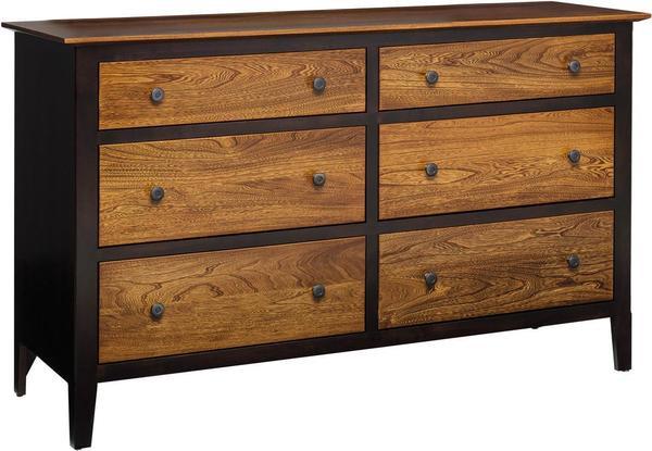 Amish Berkeley Six Drawer Dresser