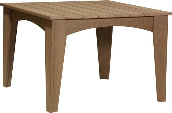 """LuxCraft Island 44"""" Square Poly Dining Table"""