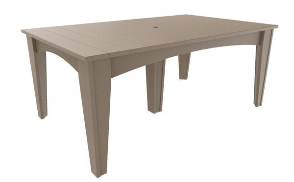 "LuxCraft Island 44"" x 72"" Rectangular Poly Dining Table"