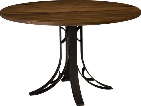 Amish Yosemite Round Dining Table with 901 Base