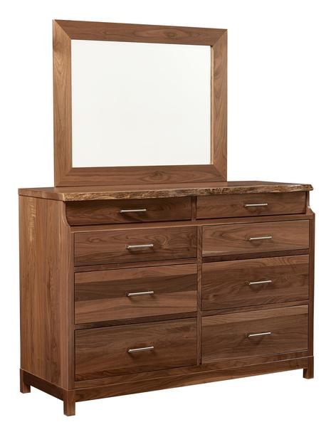Westmere Live Edge Eight Drawer Dresser with Optional Mirror
