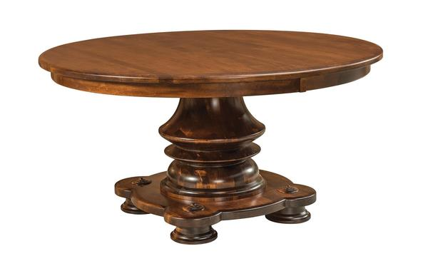 Amish Lauderdale Single Pedestal Table