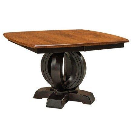 Amish Stockton Single Pedestal Dining Table