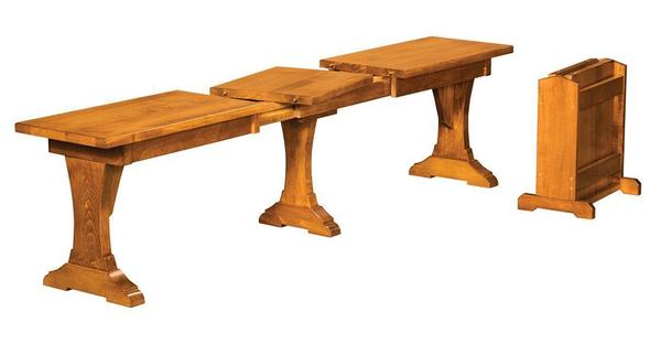 Amish Wasilla Extending Dining Bench