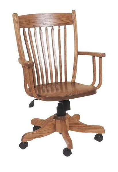 Amish Toronto Desk Chair With Gas Lift
