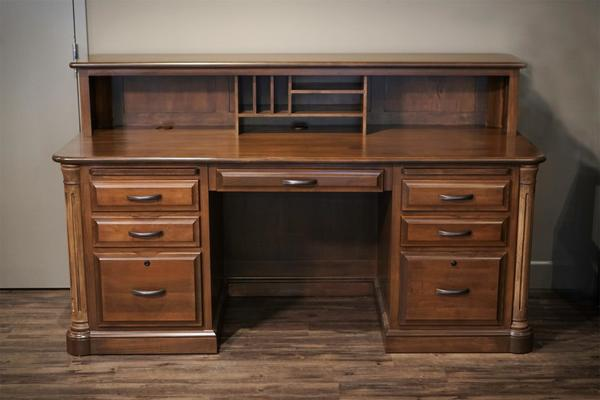Amish Made Solid Maple Wood Desk In Stock and Ready to Ship