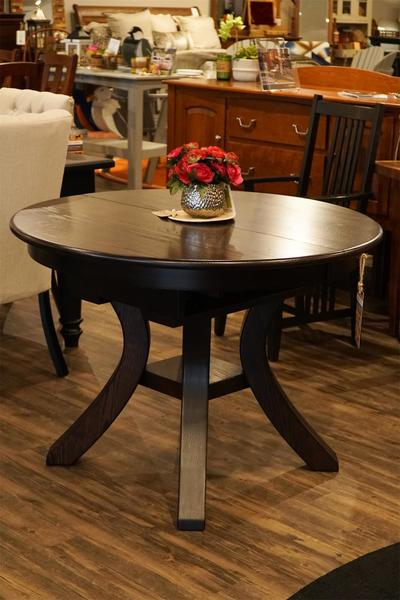 In Stock Amish Carlisle Dining Table with Butterfly Leaf