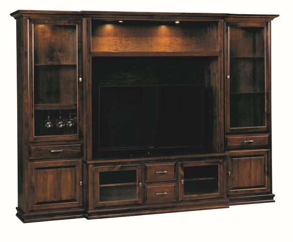 Amish Denali Entertainment Center with Wine Storage