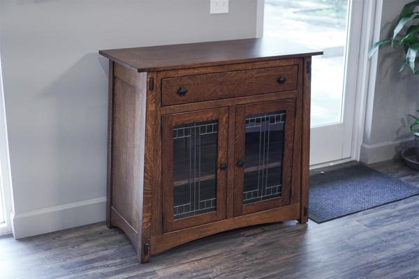 Amish Made Quarter Sawn White Oak McCoy Server In Stock