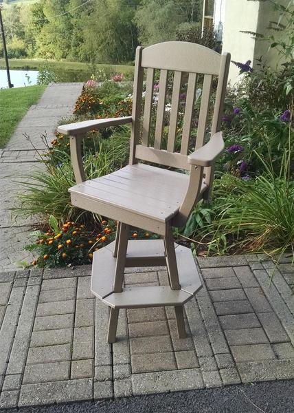 Amish Poly Classic Swivel Bar Chair