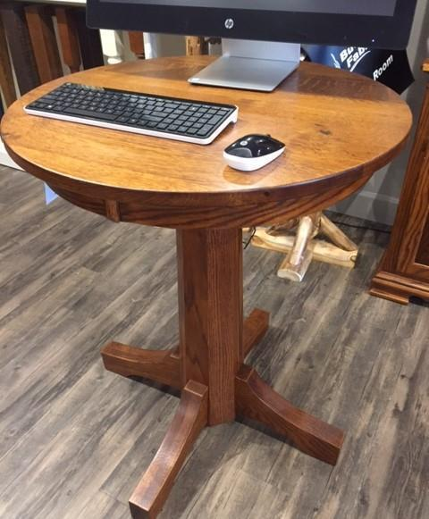 In Stock Round Single Pedestal Pub Table