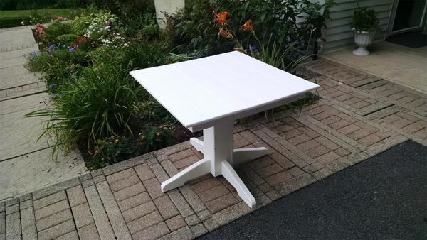 Amish Poly Square Dining Table