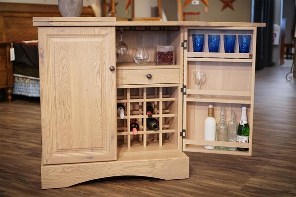 In Stock Amish Made Napa Wine Serving Bar