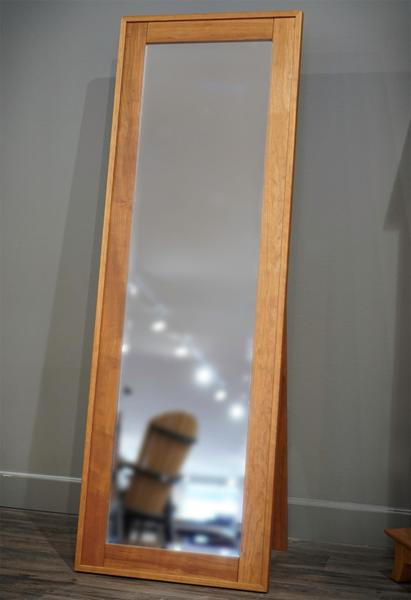 In Stock Cherry Wood Amish Standing Mirror