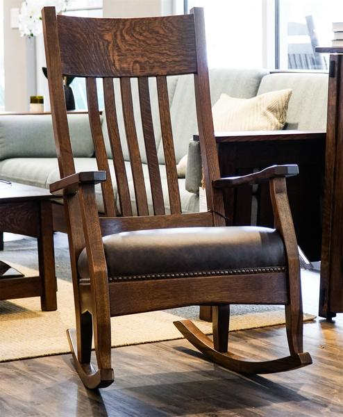 In Stock Amish Mission Rocking Chair
